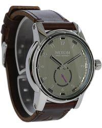 Nixon   Black Patriot Leather Watch   Lyst