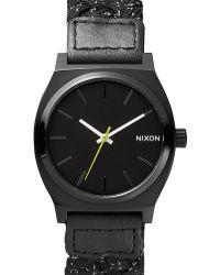 Nixon Reflective Black Time Teller Watch black - Lyst