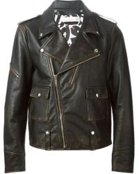 Golden Goose Deluxe Brand Distressed Biker Jacket - Lyst