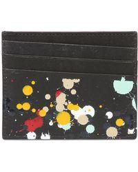 Maison Margiela Splatter Painted Leather Card Holder - Lyst