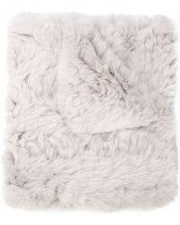 H Brand - Rabbit Fur Scarf - Lyst