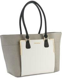 Calvin Klein Colorblock Saffiano Leather Tote - Lyst