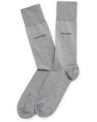 CALVIN KLEIN 205W39NYC - Underwear Egyptian Cotton Flat Knit Socks - Lyst