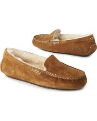 Ugg Ansley Suede Slippers - Lyst
