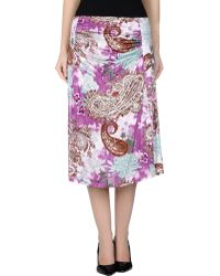 Etro 3/4 Length Skirt multicolor - Lyst