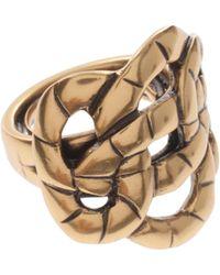Oscar de la Renta Swirl Rope Ring - Lyst