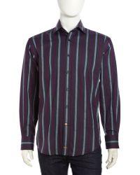 Thomas Dean Striped Shirt - Lyst