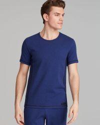 Calvin Klein Stretch Cotton Crew Neck Pajama Shirt - Lyst