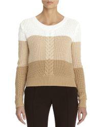Anne Klein Color Block Crew Neck Pullover - Lyst