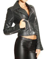 Balenciaga Jacket Leather Biker - Lyst
