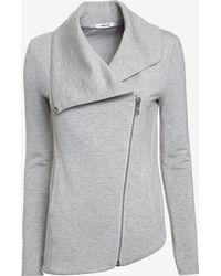 Helmut Lang Zip Up Sweats Jacket: Grey - Lyst