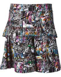 McQ by Alexander McQueen Manga Print Peplum Skirt - Lyst