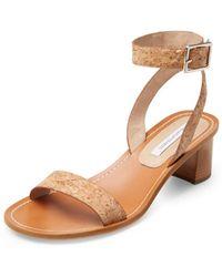 Diane von Furstenberg Cami Stacked Heel Sandal - Lyst