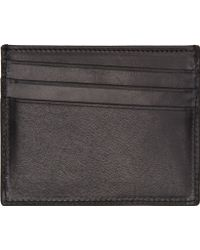 Maison Martin Margiela Black Natural Tanned Leather Card Holder - Lyst