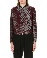 3.1 Phillip Lim Printed Bomber Jacket Pewter - Lyst