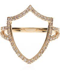 Jade Jagger - Diamond & Yellow-Gold Renaissance Shield Ring - Lyst