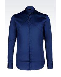 Emporio Armani Cotton Shirt - Lyst