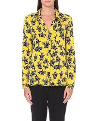 Diane Von Furstenberg Lorelei Silkblend Shirt Yellow - Lyst