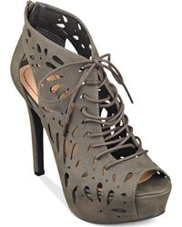 Pink And Pepper Pink & Pepper Pond Lace Up Platform Dress Shooties - Gray