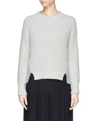 Rag & Bone 'Mira' Felt Panel Chunky Knit Sweater - Lyst