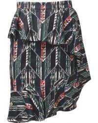 Matthew Williamson Graphic Patchwork Ruffle Skirt - Lyst