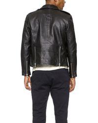 OAK Rebel Leather Jacket - Black