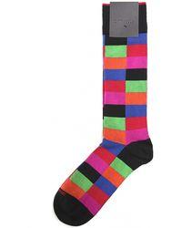 Duchamp Harlequin Stripe Socks - Lyst