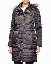 Sam Edelman - Faux Fur Trim Puffer Coat - Lyst