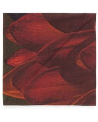Title Of Work - 'red Petals' Print Pocket Square - Lyst