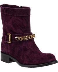 Sesto Meucci For Jildor 1377 Biker Boot Wine Suede purple - Lyst