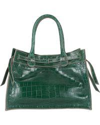 Zagliani Small Gatsby Tote green - Lyst