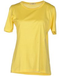 Celine Yellow T-shirt - Lyst