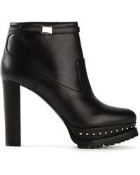 Alexander McQueen Studded Platform Ankle Boots - Lyst