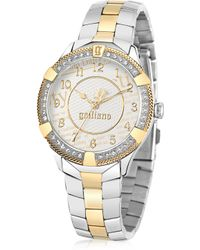 John Galliano The Costumier Two Tone Stainless Steel Crystal Women'S Watch - Metallic