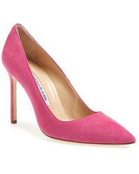 Manolo Blahnik Women'S 'Bb' Pointy Toe Pump - Lyst
