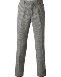 Ermanno Scervino Houndstooth Pattern Trousers - Lyst