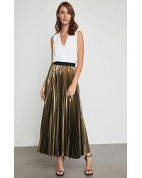 BCBGMAXAZRIA - Bcbg Dallin Pleated Metallic Maxi Skirt - Lyst