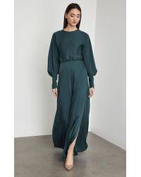 BCBGMAXAZRIA - Bcbg Satin Draped Back Maxi Dress - Lyst