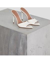 BCBGMAXAZRIA Bcbg Dana Leather Slide - White