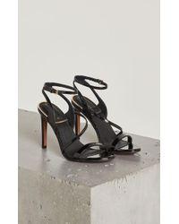 BCBGMAXAZRIA - Amilia Faux Patent Leather Sandal - Lyst
