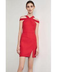 4cdf87bbaf2 Bcbgmaxazria Fyona Long Sleeve Cutout Dress in Red - Lyst