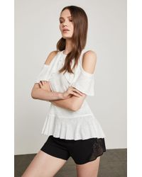 BCBGMAXAZRIA - Bcbg Mixed-media Lace Shorts - Lyst