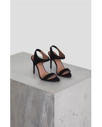 a488a9df2977b1 BCBGMAXAZRIA Farrow High-heel Strappy Dress Sandal in Gray - Lyst