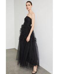BCBGMAXAZRIA - Bcbg Strapless Ruffle-trimmed Long Gown - Lyst