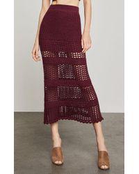 BCBGMAXAZRIA - Crochet Midi Skirt - Lyst