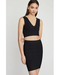 BCBGMAXAZRIA Bcbg Simone Textured Power Skirt - Black