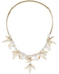 BCBGMAXAZRIA - Bcbg Stone Floral Necklace - Lyst