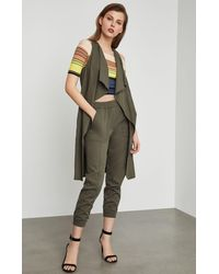 BCBGMAXAZRIA Bcbg Paige Chambray Long Vest - Green