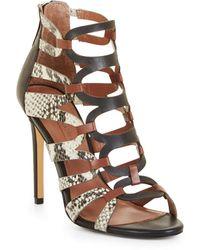 BCBGMAXAZRIA - Bcbg Valentia Python Leather Sandals - Lyst