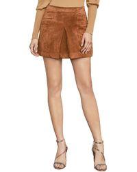 BCBGMAXAZRIA - Bcbg Corinne Faux-suede Mini Skirt - Lyst